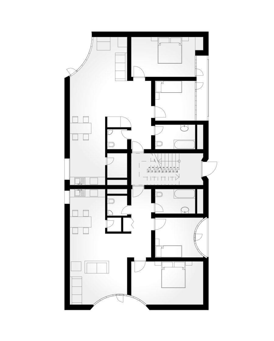Zszs architecture for Honeycomb house floor plan